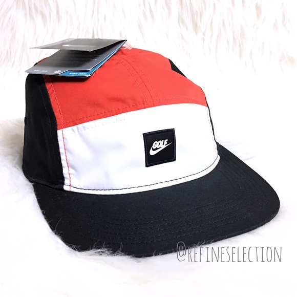 d5250a31799 Nike Golf Dri Fit 5 Panel Strapback Hat Cap
